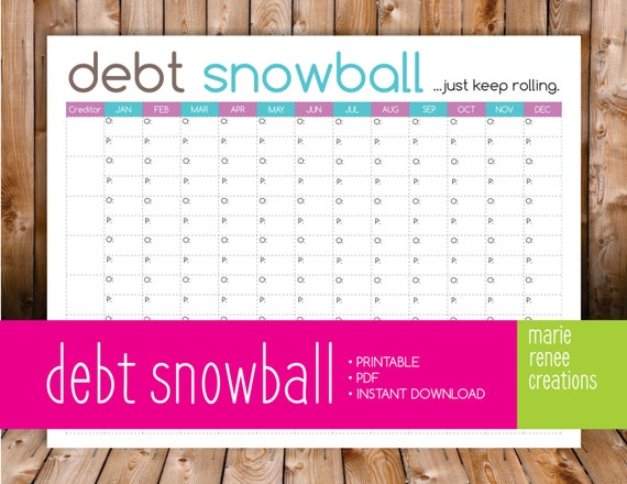 Insane image in debt snowball printable