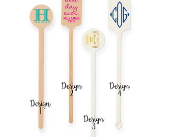 Personalized drink stirrers , wooden drink stirrer, monogrammed stirrer stick, custom stirrers, drink stirrers, wedding stirrer