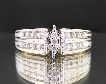 Vintage 10k Yellow Gold & Diamonds Estate Engagement/Wedding/Anniversary Ring