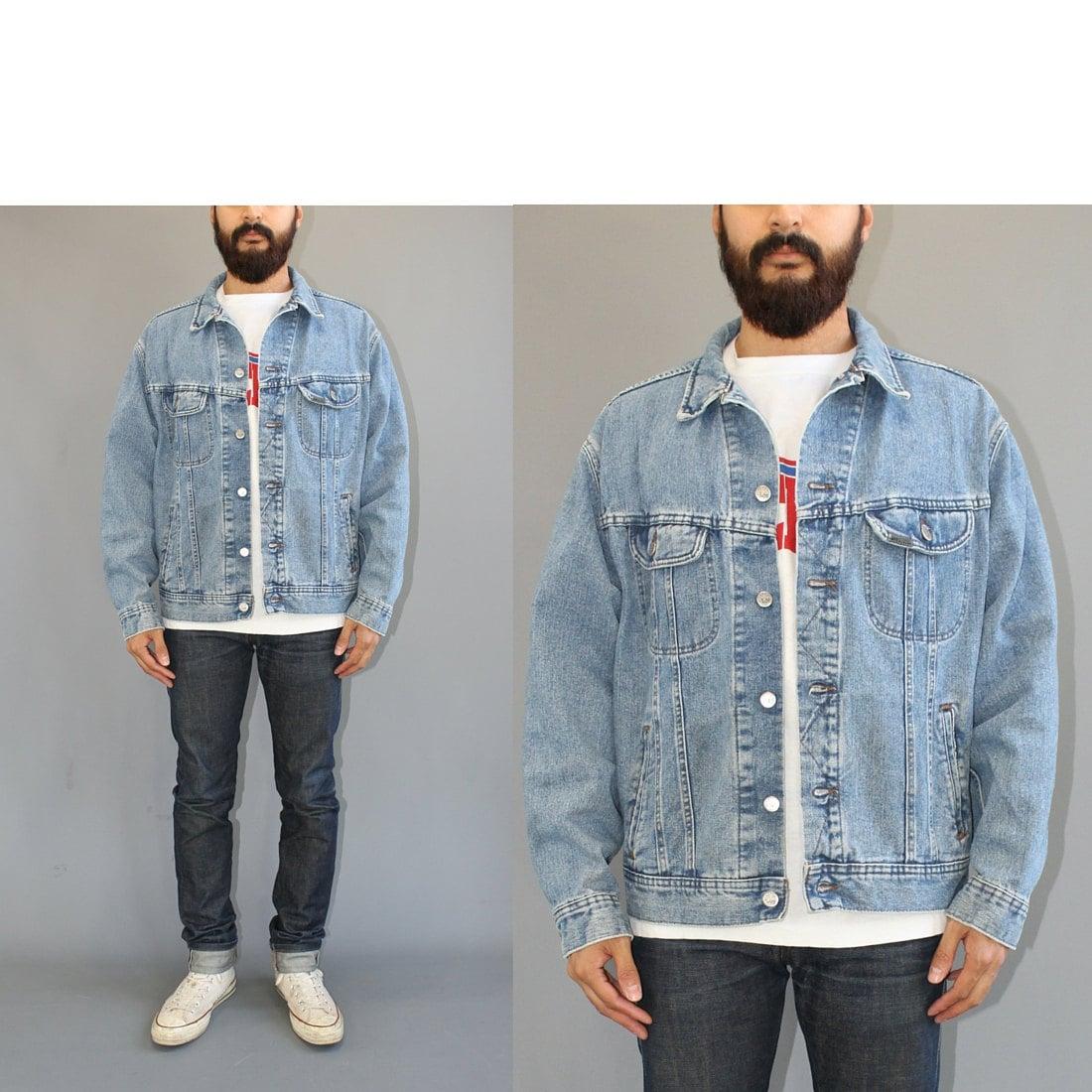 90s Lee Light Wash Denim Jacket Vintage Lee By Pinewoodgoods