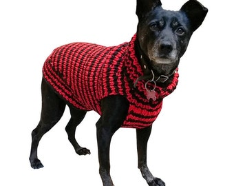 Dog Sweater - Hand Knit dog sweater for small and medium dogs - Custom made dog sweater for your dog