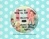Retro 50s Sarcastic Wife Humor Pin, 1950s Rockabilly Dark Humor, 1950s Kitschy Housewife Magnets, Pin 2.25 pin back button badge or magnet