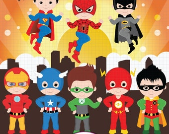 Superhero clipart, Super Hero clipart, Superhero boys, Hero clipart, Superhero Digital clipart,  Boys clipart, Superhero clip art