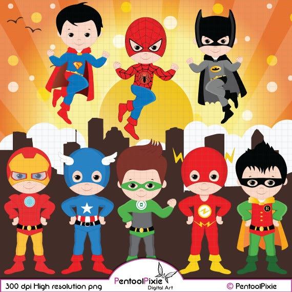 Superhero clipart Super Hero clipart Superhero boys Hero
