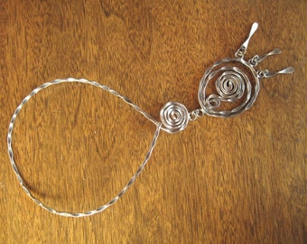 70s Artisan Spiral Necklace - 183