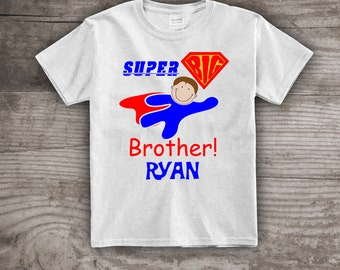 Superhero Big Brother t-shirt Super Power t-shirt Baby Shower gift Personalized tops & tees t-shirts kids youth