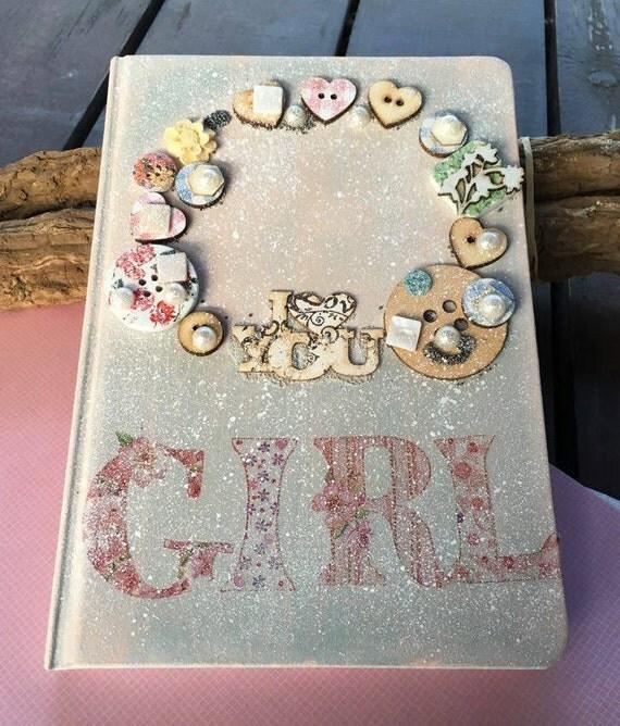 1st Birthday Girl Gift Baby Girl Keepsake Box Diary Frame