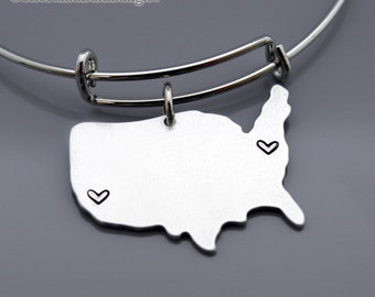 United States Map Etsy - Us map distance
