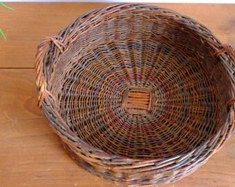 Basket, tray, basket, ring, straw, Wicker, rattan handles