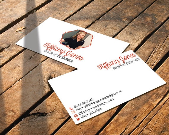 "Custom Business Card -  ""The Tiffany"" - Printable Business Card - DIY Download"
