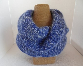 cowl scarf circle scarf chunky knit scarf mohair cowl scarf
