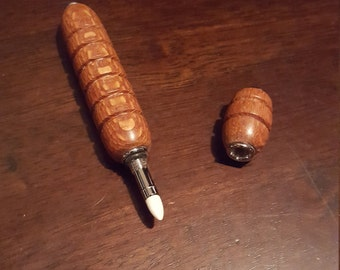 Handmade Lace Wood Perfume Applicator by Artist WFR49 Use Your Own Fragrance, Refillable