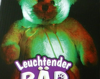 BLUSHING BEAR Interactive Soft Toy Teddy Bear and Night Light, Brand New