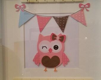 Special godmother owl frame