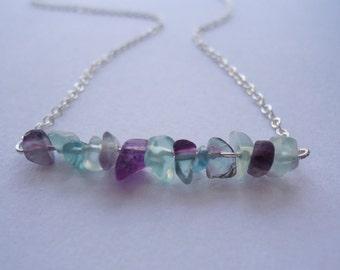 Fluorite Choker - Fluorite Necklace - Minimalist Necklace - Healing Jewelry - Handmade Gifts