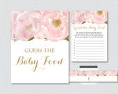 Floral Baby Shower Game G...