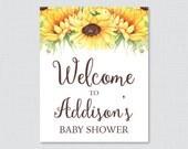 Sunflower Baby Shower Wel...