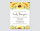 Sunflower Baby Shower Inv...