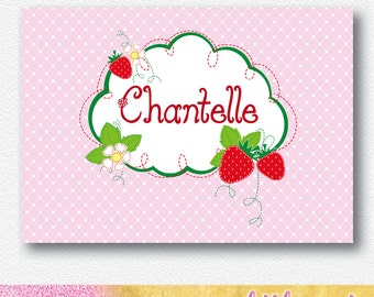 Strawberry Patch Party Backdrop | Personalised Digital file