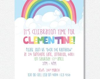 RAINBOW Party Invitation |  Personalised Digital file