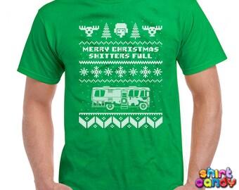 Ugly Christmas TShirt Merry Christmas Shitter's Full Christmas T-Shirts Christmas Gift Ideas Christmas Vacation Shirt Xmas Mens Tee - DN202