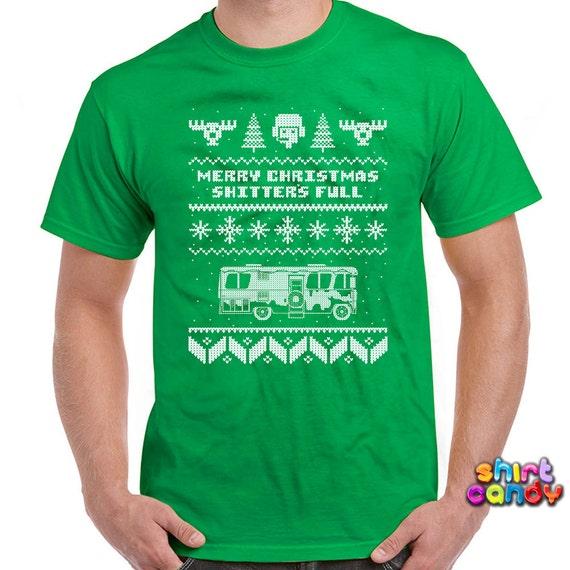 Ugly christmas tshirt merry christmas shitter 39 s full for Tacky t shirt ideas