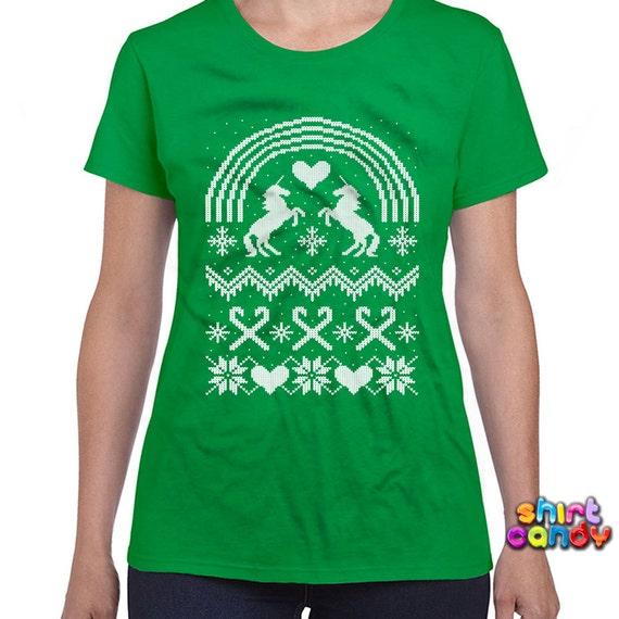 Ugly christmas t shirt unicorn shirt christmas gift by for Tacky t shirt ideas
