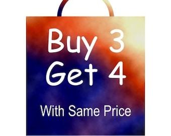 Buy 3 Get 4 with same price, Coupon code: BUY3GET4SAMPRICE