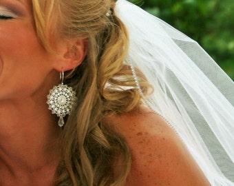 Swarovski crystal wedding earrings