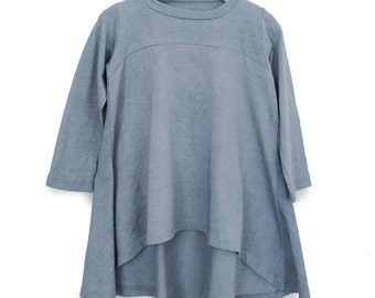 Clothing , Girl's Clothing , Blue Cloud twirly Tunic- Dress , Urban dresses