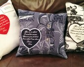 """Memory Pillow Patches,  """"This is a shirt I used to wear"""" Custom Sew on Patch, Personalized Embroidered Patches, Heart Shaped Patches."""