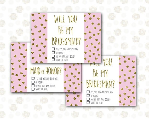 Bridesmaid Proposal Maid Of Honor Card / INSTANT DOWNLOAD