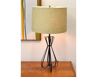 SALE!! Mid Century Vintage Hairpin Table Lamp - 1960s