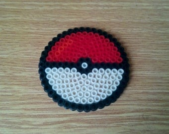 Pokeball Coaster made with perler