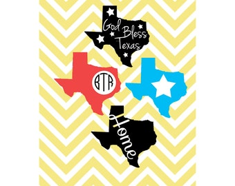 Texas Designs, Monogram, Star, Home SVG, DXF, JPG, for Cricut Design Space, Silhouette Studio, Die Cut, Instant Download of svg, dxf & jpeg