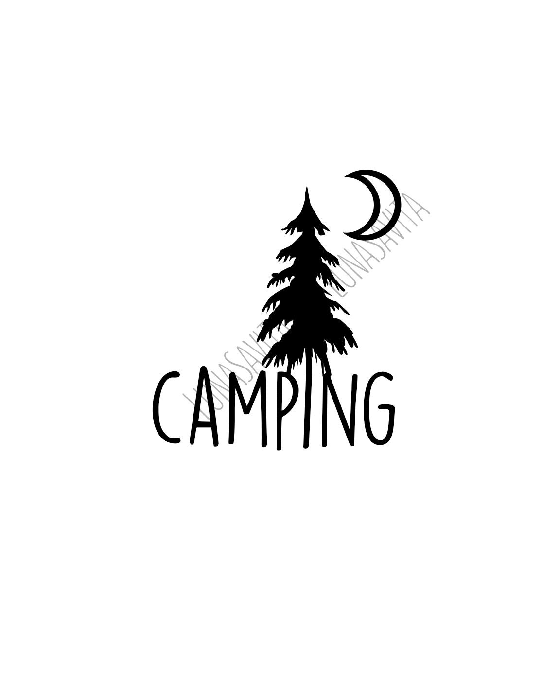 Camping Svg Dxf Files For Cricut Design Space Silhouette
