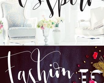 Los Spiro Calligraphy Font Digital Download