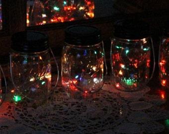 Mason Jar Solar Lid Light - Color Flashing - Angel Lights - Firefly Lights - solar mason jar, mason jar light, mason jar solar light