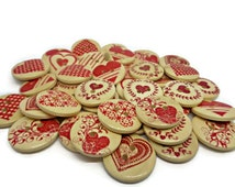 Red Heart Sewing Button