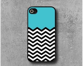 IPhone 4 / 4s Case Zig Zag Chevrons Blue