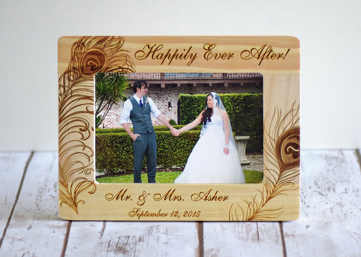 Personalized Wedding Picture Frame Wood Frame by CustomWoodWonders