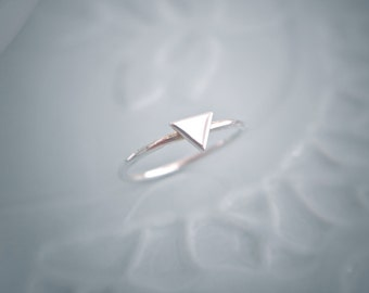 Sterling Silver Triangle Stacking Ring