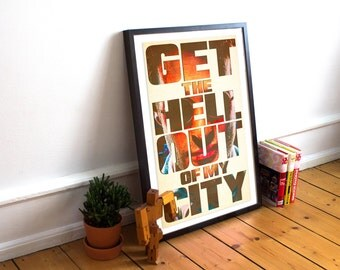 Daredevil Typography Poster - Wall Art - Get the Hell Out of My City Matt Murdock - Hells Kitchen (Available In Many Sizes)