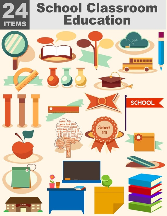 Classroom Design Elements ~ School classroom education clipart teacher