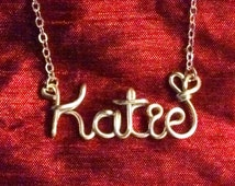 Katie necklace,Name Necklaces,Personalized wedding jewelery,Birthday gift,Bridesmaid necklace,Custom Name necklace