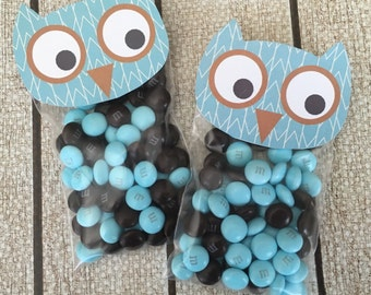 Owl Bag Topper. Perfect Party Favor Topper for Fall Baby Shower, Woodland Baby Shower, Woodland Birthday Party, or