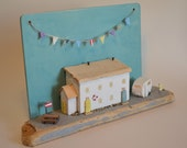 Driftwood 'Holiday Cottages', Handmade in Cornwall. Caravan, reclaimed wood, Cornish Holiday, Beach Finds, driftwood cottage, reclaimed