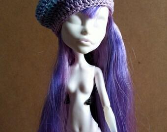 Beret «Winter» cotton mercerized for Monster High Doll