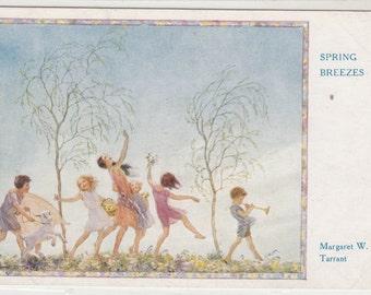 "Fantasy Postcard Artist Margaret Tarrant,""Spring Breezes"" Unused"
