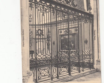 Ajmiens France Cathedral Wrought Iron Gate Architectural Detail Old Postcard 1780,Unused